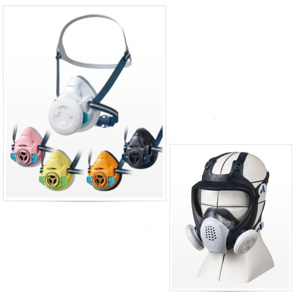 防塵・防毒マスク各種
